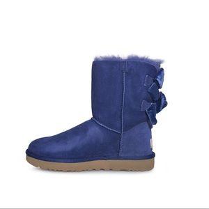 UGG Bailey bow II Velvet Ribbon Sky Blue Boots